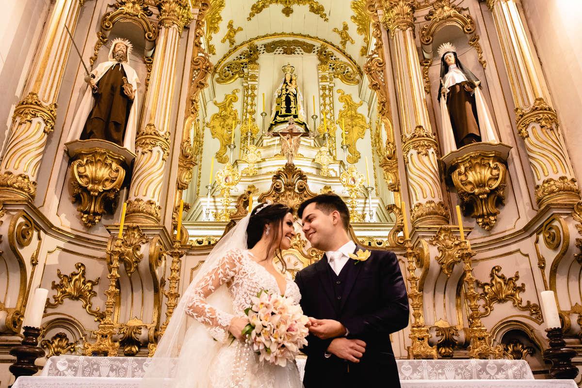 casamento em ouro preto altar da igreja do carmo