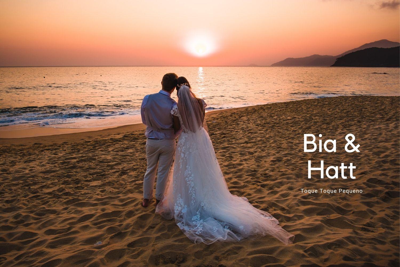 casamento na praia, toque toque, casamento ao ar livre, por do sol, praia, casamento de dia, vinicius terror